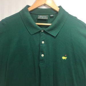 3XL Men's Masters Collection Golf Polo Green